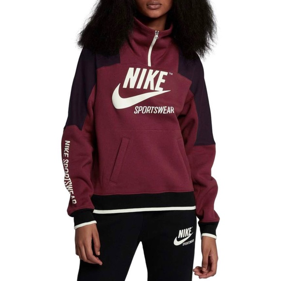 wholesale dealer 4a222 41729 NWT Nike Sportswear Archive Hoodie Red Wine